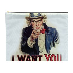 Uncle Sam Cosmetic Bag (xl) by Valentinaart