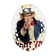 Uncle Sam Ornament (oval Filigree) by Valentinaart