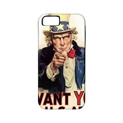 Uncle Sam Apple Iphone 5 Classic Hardshell Case (pc+silicone) by Valentinaart
