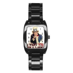 Uncle Sam Stainless Steel Barrel Watch by Valentinaart