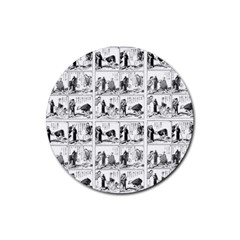 Old Comic Strip Rubber Round Coaster (4 Pack)  by Valentinaart