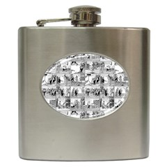 Old Comic Strip Hip Flask (6 Oz) by Valentinaart