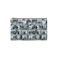 Old Comic Strip Cosmetic Bag (small)  by Valentinaart