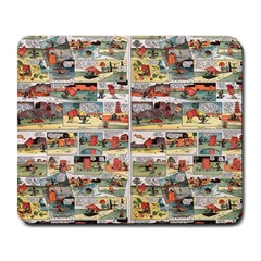 Old Comic Strip Large Mousepads by Valentinaart