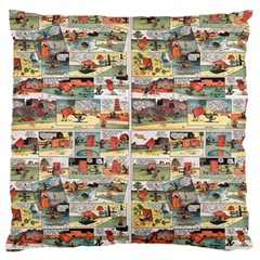 Old Comic Strip Large Cushion Case (one Side) by Valentinaart