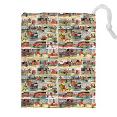 Old Comic Strip Drawstring Pouches (xxl) by Valentinaart