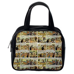 Old Comic Strip Classic Handbags (one Side) by Valentinaart