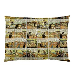 Old Comic Strip Pillow Case (two Sides) by Valentinaart