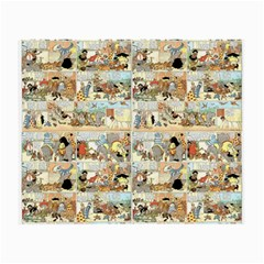 Old Comic Strip Small Glasses Cloth by Valentinaart