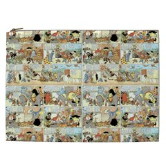 Old Comic Strip Cosmetic Bag (xxl)  by Valentinaart