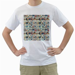 Old Comic Strip Men s T Shirt (white) (two Sided) by Valentinaart