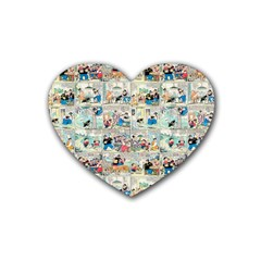 Old Comic Strip Heart Coaster (4 Pack)  by Valentinaart