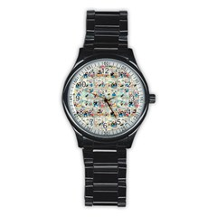 Old Comic Strip Stainless Steel Round Watch by Valentinaart