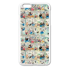 Old Comic Strip Apple Iphone 6 Plus/6s Plus Enamel White Case by Valentinaart