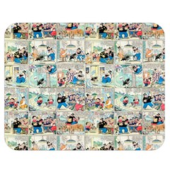 Old Comic Strip Double Sided Flano Blanket (medium)  by Valentinaart