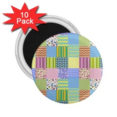 Old Quilt 2 25  Magnets (10 Pack)  by Valentinaart