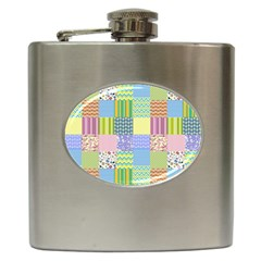 Old Quilt Hip Flask (6 Oz) by Valentinaart