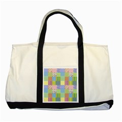 Old Quilt Two Tone Tote Bag by Valentinaart