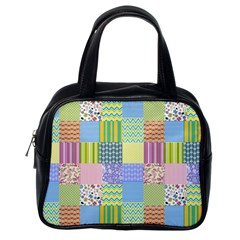Old Quilt Classic Handbags (one Side) by Valentinaart