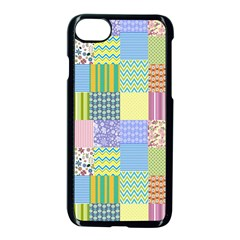 Old Quilt Apple Iphone 7 Seamless Case (black) by Valentinaart