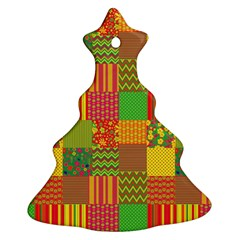 Old Quilt Ornament (christmas Tree)  by Valentinaart
