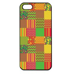 Old Quilt Apple Iphone 5 Seamless Case (black) by Valentinaart