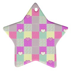 Old Quilt Ornament (star) by Valentinaart