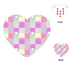 Old Quilt Playing Cards (heart)  by Valentinaart