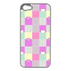 Old Quilt Apple Iphone 5 Case (silver) by Valentinaart