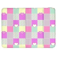 Old Quilt Samsung Galaxy Tab 7  P1000 Flip Case by Valentinaart