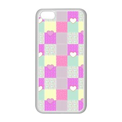 Old Quilt Apple Iphone 5c Seamless Case (white) by Valentinaart