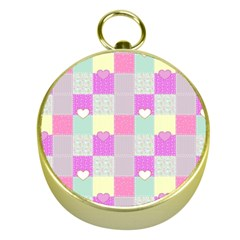 Old Quilt Gold Compasses by Valentinaart