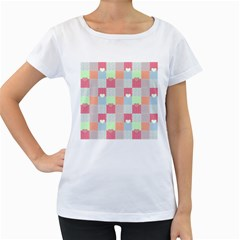 Patchwork Women s Loose Fit T Shirt (white) by Valentinaart