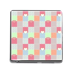 Patchwork Memory Card Reader (square) by Valentinaart