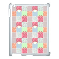 Patchwork Apple Ipad 3/4 Case (white) by Valentinaart