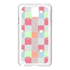 Patchwork Samsung Galaxy Note 3 N9005 Case (white) by Valentinaart