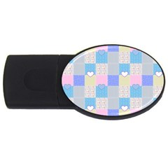 Patchwork Usb Flash Drive Oval (2 Gb) by Valentinaart