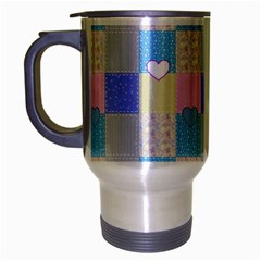 Patchwork Travel Mug (silver Gray) by Valentinaart