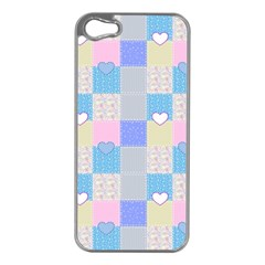 Patchwork Apple Iphone 5 Case (silver) by Valentinaart