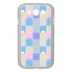 Patchwork Samsung Galaxy Grand Duos I9082 Case (white) by Valentinaart