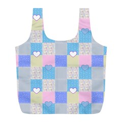 Patchwork Full Print Recycle Bags (l)  by Valentinaart