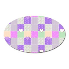 Patchwork Oval Magnet by Valentinaart