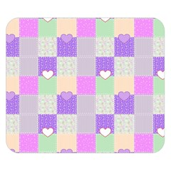 Patchwork Double Sided Flano Blanket (small)  by Valentinaart