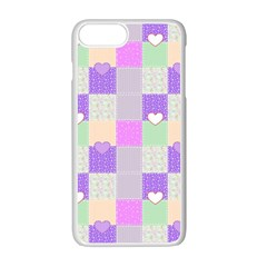 Patchwork Apple Iphone 7 Plus White Seamless Case by Valentinaart