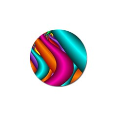 Fractal Wallpaper Color Pipes Golf Ball Marker by Amaryn4rt