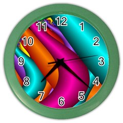 Fractal Wallpaper Color Pipes Color Wall Clocks by Amaryn4rt
