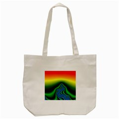 Fractal Wallpaper Water And Fire Tote Bag (cream) by Amaryn4rt