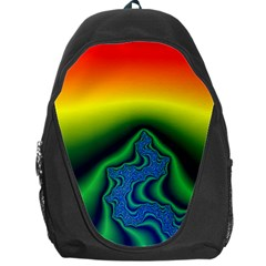 Fractal Wallpaper Water And Fire Backpack Bag by Amaryn4rt