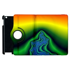 Fractal Wallpaper Water And Fire Apple Ipad 2 Flip 360 Case by Amaryn4rt