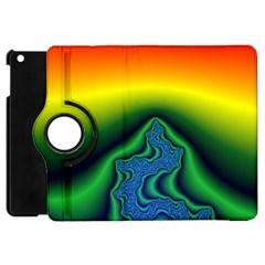 Fractal Wallpaper Water And Fire Apple Ipad Mini Flip 360 Case by Amaryn4rt